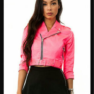 Brand New with Tags Tripp NYC crop neon pink moto
